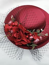 cheap -Net Fascinators with Flower 1 Piece Wedding / Horse Race Headpiece