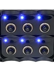 Недорогие -автомобильный выключатель dc12-24v / панель с тумблером 6 групп / ip66 / с предохранителем 15a / материал для защиты окружающей среды
