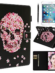 Недорогие -кейс&усилитель; Стилус&усилитель; 1 шт. Экран защиты для Apple Ipad Pro 11'2018 / новый воздух (2019) / 10,5 с подставкой / флип / ультратонкий задняя крышка черепа / цветок искусственная кожа
