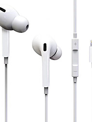 cheap -Lightning Wired Earphone In-ear Earphones with microphone Wired Sport Music Stereo Earbuds Super Bass Hifi Headset for iPhone