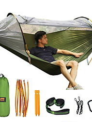 cheap -Outdoor Mosquito Net Hammock Double Anti-mosquito Parachute Cloth Swing Indoor Light Tent New