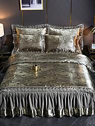Недорогие -нордический модальный тенсел сатин жаккардовый лист 4 шт постельное белье