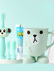 cheap -360 Degree Children's Toothbrush 5-piece Set Infant Training Safe Design Soft Healthy Silicone Brushing Teeth