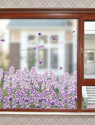 Недорогие -штейн / С цветами 60 cm 58 cm Стикер на окна / Матовая / Стикер на двери ПВХ