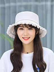 cheap -Hiking Hat Fishing Hat Fisherman Hat Hat 1 PCS Portable Sunscreen UV Resistant Breathable Cotton Autumn / Fall Spring Summer for Women's Camping / Hiking Hunting Fishing Dark Gray Champagne Khaki