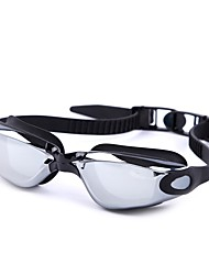 cheap -Swimming Goggles Waterproof Anti-Fog Adjustable Size Prescription UV Protection Mirrored For Silica Gel PC Whites Grays Blacks Gray Black Blue / Plated