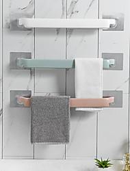 Недорогие -Самоклеющийся держатель для полотенец настенный вешалка для полотенец ванная комната вешалка для полотенец полка рулон держатель висит крючок ванной организатор цвет случайный 3 шт