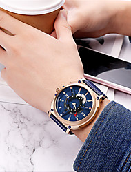 cheap -Men's Dress Watch Japanese Quartz Genuine Leather 30 m Water Resistant / Waterproof Calendar / date / day Day Date Analog Casual Fashion - Blue Silver Brown One Year Battery Life