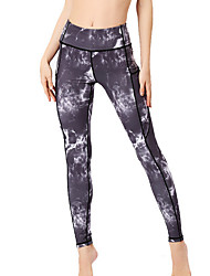 cheap -Women's Basic Slim Jogger Pants - Floral White Black Blue S / M / L
