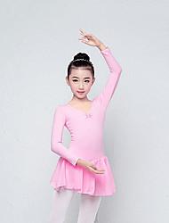cheap -Kids' Dancewear Dresses / Leotards Girls' Training / Performance Cotton Blend Bow(s) Long Sleeve Leotard / Onesie