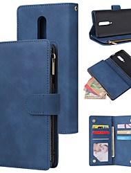 cheap -Case For Oneplus 7 / Oneplus 7 pro / one plus 7T Wallet / Card Holder / Shockproof Full Body Cases Solid Colored PU LeatherCase For Oneplus 7T Pro