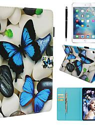 Недорогие -кейс&усилитель; Стилус&усилитель; 1шт защита экрана для Apple Ipad Pro 11'2018 / новый воздух (2019) / 10,5 с подставкой / флип / ультратонкий задняя крышка бабочка искусственная кожа