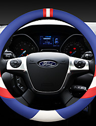 cheap -fashion Car Steering Wheel Covers Leather 38cm Breathable Anti Slip For Ford Four Seasons Auto Accessories