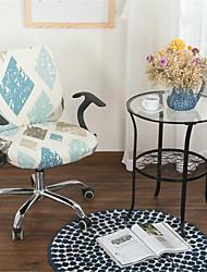 Недорогие -бежевый цветочный принт компьютер офисный стул крышка сплит защитная эластичная ткань полиэстер универсальный рабочий стол стул чехлы на стулья стрейч сгущаться вращающийся стул чехол