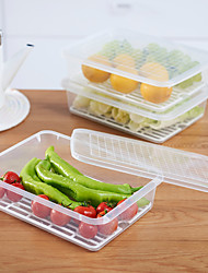 Недорогие -высокое качество с ящиками для хранения пластмасс / для хранения продуктов / для хранения продуктов в больших объемах для повседневного использования / многофункциональное кухонное хранение 1 шт.
