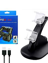 Недорогие -hb-p4002b USB зарядное устройство для док-станции для контроллера PS4 зарядное устройство для док-станции подставка для Sony PlayStation 4 PS4 / PS4 Pro / PS4 Slim контроллер