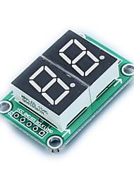 Недорогие -74hc595 статическое вождение 2-сегментный модуль цифрового дисплея бесшовные банка серии 0,5-дюймовый 2-ярко-красный