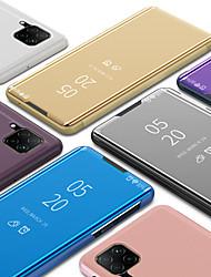 Недорогие -Роскошный умный ясный вид зеркало флип стенд телефон чехол для Huawei P40 P40 Pro P40 Lite P30 P30 Pro P30 Lite