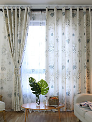 cheap -Two Panel American Country Style Linen Cotton Printing Living Room Bedroom Dining Curtain