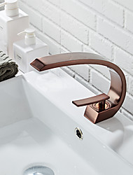 cheap -Bathroom Sink Faucet - Standard Oil-rubbed Bronze Centerset Single Handle One HoleBath Taps