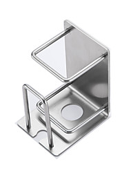 Недорогие -304 из нержавеющей стали зубная щетка чашка настенный 3 м клей без отверстия дозатор зубной пасты держатель зубной щетки набор аксессуары для ванной комнаты хранения стойки 2 шт.
