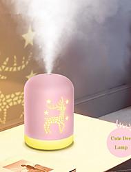cheap -1pcs 340ml USB Deer Air Humidifier Aroma Essential Oil Diffuser Ultrasonic Mist LED NightLight Humidifier Fogger Christmas Gift