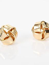 Недорогие -женские серьги-гвоздики классика любовь классические винтажные серьги ювелирные изделия золото в подарок ежедневно 1 пара