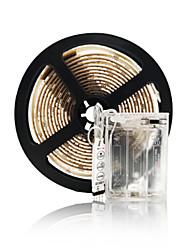cheap -1m Flexible LED light strips RGB Tiktok Lights 30 LEDs SMD5050 10mm 1 set Multi Color Waterproof Decorative Self-adhesive AA Batteries Powered