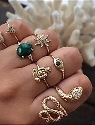 cheap -Ring Gold Alloy Elegant Holiday European 1 set Adjustable / Women's