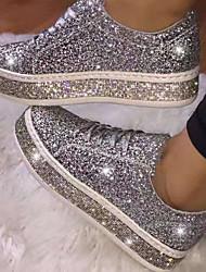 cheap -Women's Flats Flat Heel Round Toe Suede Spring & Summer Pink / Black / Silver