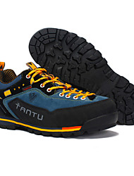 cheap -Men's Hiking Shoes Mountaineer Shoes Anti-Shake / Damping Cushioning Ventilation Impact Low-Top Outsole Pattern Design Camping / Hiking Hunting Fishing Nubuck Autumn / Fall Spring & Summer Yellow Red
