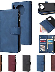 cheap -Case For Huawei P40 Pro/ P40 Lite /Nova 5i Pro Wallet / 9 Card Holder with Chain / Shockproof PU Leather Case For Huawei Mate 30 Pro/ Mate 30 Lite / P Smart Plus (2019)/Honor 20 pro/ P30 Pro /P30 Lite