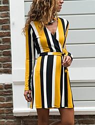 cheap -Casual Long Sleeve Slim Dress