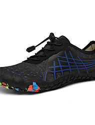 cheap -Men's Fall / Spring & Summer Sporty / Casual Daily Outdoor Trainers / Athletic Shoes Hiking Shoes / Upstream Shoes Mesh Breathable Non-slipping Shock Absorbing Black / Silver / Black / Blue / Dark