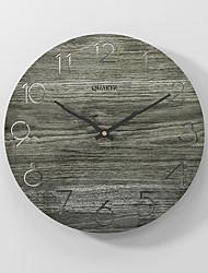 Недорогие -Современные минималистские бесшумные настенные часы с деревянными часами темно-серые 30x30см