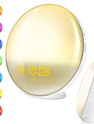Недорогие -brelong многофункциональный электронный будильник привело красочный пробуждение ночной свет европейские правила 1 шт.