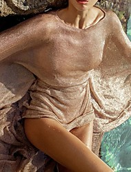 Недорогие -женские глянцевые вязаные сетчатые платья
