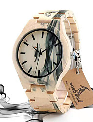 cheap -Couple's Dress Watch Japanese Quartz Stylish Fashion Wooden Analog Beige / Two Years / Two Years