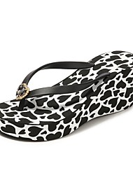 cheap -Women's Slippers House Slippers Stylish / Casual PVC Leather Shoes
