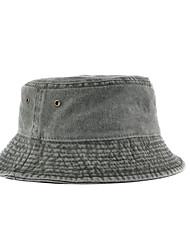 Недорогие -Рыбалка Шляпа Шляпа рыбака Шляпа для туризма и прогулок Кепка 1 ед. Компактность Защита от солнечных лучей Устойчивость к УФ Дышащий Сплошной цвет Хлопок Осень Весна Лето для Муж. Жен.