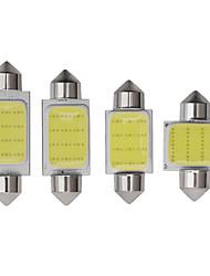 cheap -C5W COB LED Festoon Dome Lamp Bulb 31mm 36mm 39mm 41mm 12V DC LED Double Tip Lamp Car Interior Door Reading Light White 2pcs