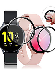 cheap -3 Pcs Smartwatch Screen Protector for Samsung Galaxy Watch Active /Watch Active 2 Anti-Scratch 3D Protective Full Coverage Tempered Glass Screen Film