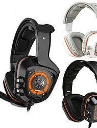 cheap -SOMiC G910 Gaming Headset 7.1 Surround Sound USB LED Light Smart Vibration PC Headphone With Mic Sound Vibration USB Headset Bass LED Light For PC PS4 Laptop