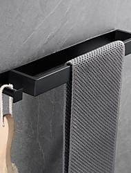 cheap -16-Inch Stainless Steel Bathroom Towel Holder, Self Adhesive Bath Towel Rack with hook,  Wall Mounted, Contemporary Style Bathroom Hardware Accessories Towel Bar, Rustproof, 3 Colors, Matte Black, Bru