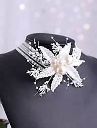 cheap -Women's Headbands Hair Jewelry For Wedding Engagement Party Wedding Pearl Imitation Pearl White 1pc