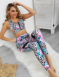 cheap -Gymnastics Activewear Top Gore Women's Daily Wear Running Sleeveless Natural POLY Polester / Cotton Blend