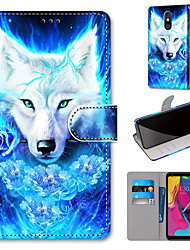 cheap -Case For Motorola Moto G8 Play / Moto G8 Plus / MOTO E6 plus Wallet / Card Holder / with Stand Full Body Cases Rose Wolf PU Leather / TPU for MOTO E6 Play / MOTO G7 / MOTO G7 Plus