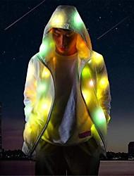 Недорогие -Квадратная Светодиодная одежда Ночные светильники Меняет цвета / Милый / Свадьба Включение / выключение Аккумуляторы AA 1шт