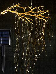 Недорогие -1 компл. 2 м х 10 ветвь 200led солнечной энергии лозы ветка светодиодная строка фея свет открытый сад забор дерево из светодиодов гибкая строка фея светлый филиал свет двора гирлянды украшения