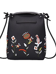 cheap -Women's Zipper PU Gift Bags Plants Dark Brown / Blushing Pink / Green